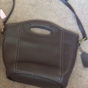 Authentic COACH BROWN LEATHER CROSSBODY  PURSE